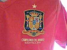Espagne 2010 Home Football Shirt/Training Adidas Jersey Taille adulte: Large