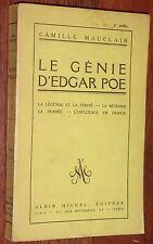 Camille Mauclair LE GENIE D'EDGAR POE 1925