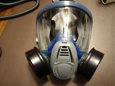 ONE  SMALL RESPIRATOR MASK FULL FACE  MSA Advantage 3000 New With 2 Cartridges