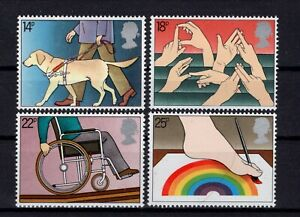 Great Britain 1981. International Year of the Disabled. Scott # 937-940. MNH,VF