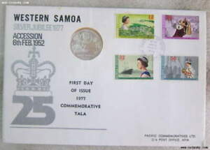 1977 WESTERN SAMOA $1 Silver Queen Silver Jubilee PACIFIC COMMMORATIVES PNC