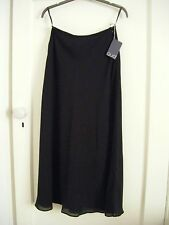 BNWT black crepe polyester chiffon A-line evening skirt by QUO size 12
