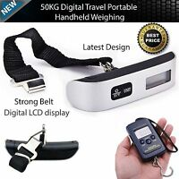 New Portable Travel Electronic Digital LCD Luggage Weight Hanging Scale KG LB OZ