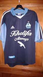 MAILLOT FOOTBALL MANCHES COURTES  OM OLYMPIQUE MARSEILLE TAILLE L SAISON 02/03