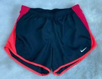 NIKE DRI-FIT Womens' Black Orange Pink Tempo Shorts Size XS