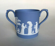 Wedgwood Blue Jasperware Twin-Handled Loving Cup - Classical Scenes