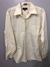 Valerio Garati Men's Size 16 1/2 34-35 Formal Botton Down Yellow Dress Shirt A-9