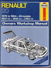 Renault 20 TL LS TS & TX Haynes Owners Workshop Manual 1976-84 petrol models
