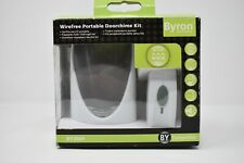 Byron BY206F BY Compatible Wire Free Wireless Portable Door Chime Bell Kit