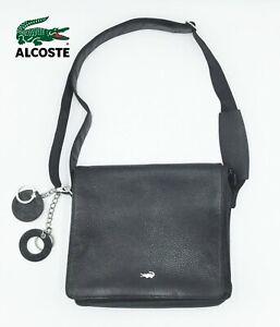 "Lacoste Black messenger 12"" X 10.5 Small Computer Laptop BAG"