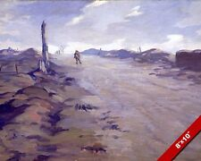 WWI VIMY RIDGE FRANCE LONE SOLDIER OIL PAINTING ART REAL CANVAS GICLEEPRINT