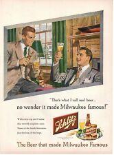 1948 Original Vintage Schlitz Beer Magazine Ad