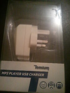 TEMIUM USB CHARGER (10 UNITS) FOR MP3 PLAYER IPHONE & IPOD MAINS WALL UK PLUG
