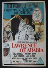 LAWRENCE OF ARABIA 1963 Rare Australian movie poster Omar Sharif Peter O'Toole