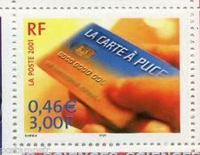 FRANCE 2001, timbre 3426, SIECLE AU FIL, SCIENCES, CARTE A PUCE, neuf**