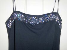 A.B.S. BLACK PROM/EVENING GOWN, MED, BLACK W / SEQUINS