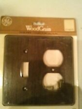(2) GE Wood Grain Designer Collection Double Switch/Combination Wall Plate