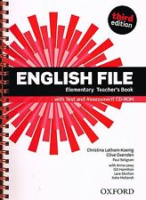 ENGLISH FILE Elementary Third Edition Teacher's Book w Test & Assesment CD @NEW@