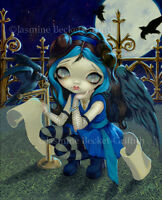 Jasmine Becket-Griffith art print SIGNED Quoth the Raven Nevermore poe fairy pop
