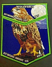 TATOKAINYANKA OA LODGE 356 CENTRAL WYOMING 2017 JAMBOREE 2-PATCH HAWK 200 MADE