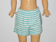 New BABY GAP Size 0-3 Months Boys Icicle Blue Striped Shorts