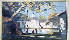 GIDEON D. ARUL RAJ (1925-1975)Watercolor-Galaxy Gallery Owner Woolworth Heiress