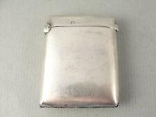 More details for good antique silver vesta case. hallmarked birmingham 1919