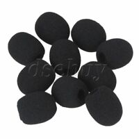 10x EY-M05 Headset Microphone Wind Shield Foam Mic Protector 8mm Dia Black