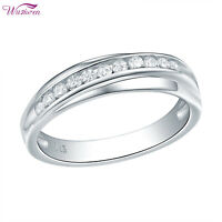 Wedding Band Eternity Ring For Women 925 Sterling Silver White AAA Cz Size 5-10