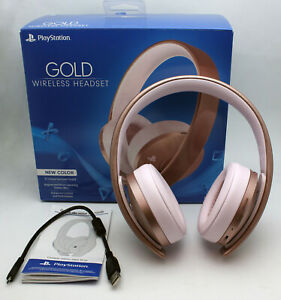 Working Headset ONLY PS4 Playstation 4 PS 4 Rose Gold Wireless Headset-no dongle