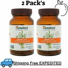2 Pack's   Himalaya, Liver Care, 90 Vegetarian Capsules Protects Liver Cells