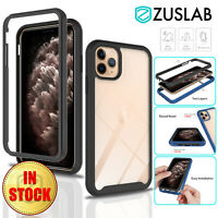 For iPhone 11 Pro Max Case ZUSLAB Clear Full Body Heavy Duty Shockproof Cover