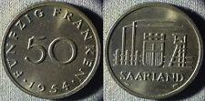 Saarland : 1954 50 Fr BU #3  IR5352