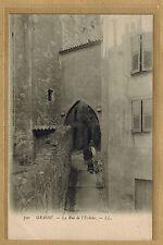 Cpa Grasse - la rue de l'Eveché avec enfants sur les marches rp0461