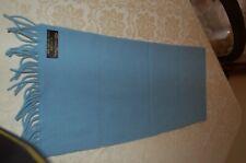 Mattison & Frahn - Sciarpa azzurra, Lana lambswool 100%, 30 cm x 130 cm, usata