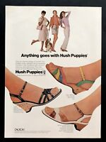 1982 Vintage Print Ad HUSH PUPPIES Woman's Foot Fashion Shoes 80's Style Sandal