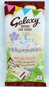 Galaxy White Hot Chocolate Drink Sachets Marshmallows & Sprinkles NEW