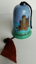 Pottery Wind Chime Bell Camelback Inn Hand Painted Desert Southwestern Ex. Cond.