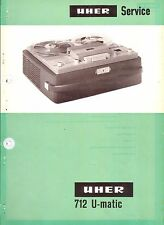 Uher Service Manual für Tonband 712 U-matic