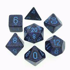 Set 7 dadi Chessex SPECKLED COBALT blue 25307 MACULATO COBALTO blu Dice