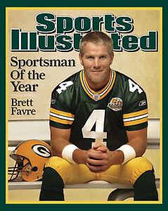 Brett Favre - 2007 Sports Illustrated Cover, 8x10 Color Photo