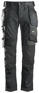 SNICKERS WORK TROUSERS ALLROUNDWORK 6241 STRETCH HOLSTER POCKET TROUSERS.ST/GREY