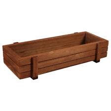 Wooden Garden Herb Planter Window Box Trough Pot Succulent Flower Plant Bed HOT