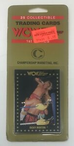 1991 WCW Championship Marketing Wrestling Card 1st Series Hanger PACK Sting