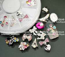 12pcs 3D Nail Art Decoration Alloy Jewelry Glitter Rhinestones+Wheel (SET NO.8)