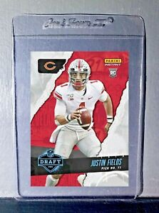 Justin Fields 2021 Panini NFL Instant Draft Night #4 Rookie Card PreSale