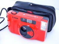 "RED Canon Snappy ""S"" 35mm Compact Automatic Camera 35mm f/4.5 Lens, in Excellent"