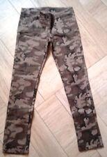 Abbigliamento moda DONNA pantalone JEANS VEGETATO esercito offerta DENIM