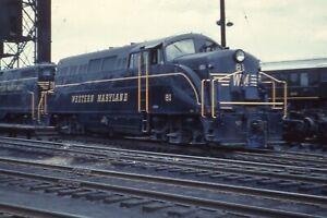 Duplicate Train Slide Western Maryland BL-2  #81  05/17/1959  Hagerstown MD