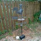 Antique 1860's Original Rooster Weathervane Arrow Copper Advertising Sign RARE